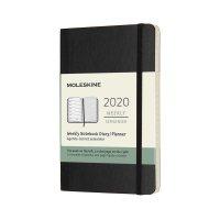 Black Pocket Weekly Soft Diary 2020