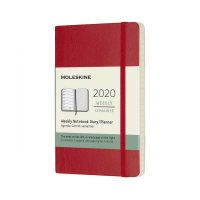 Scarlet Red Pocket Weekly Soft Diary 2020
