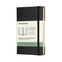Black Horizontal Pocket Weekly Hard Diary 2020