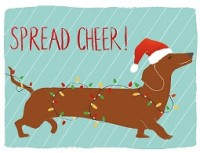Dachshund Spread Cheer Holiday