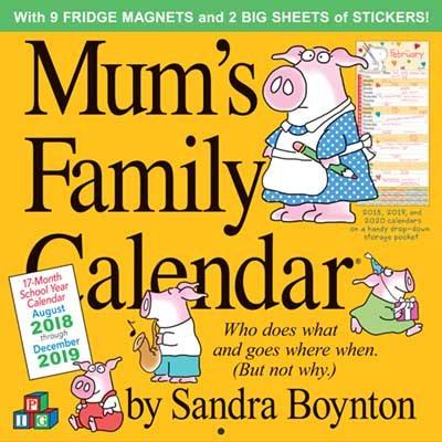 2019 Mum's Family Calendar