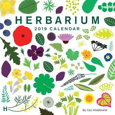 Herbarium 2019 Square Wall Calendar