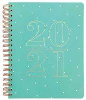 Blue Polka Dot Spiral Bound Planner X-Large Diary 2020-2021 WTV