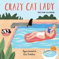 2021 Crazy Cat Lady Mini Wall Calendar