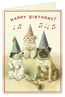 Happy Birthday Dogs Card
