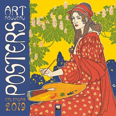 Art Nouveau Posters Wall Calendar 2019 (Art Calendar)