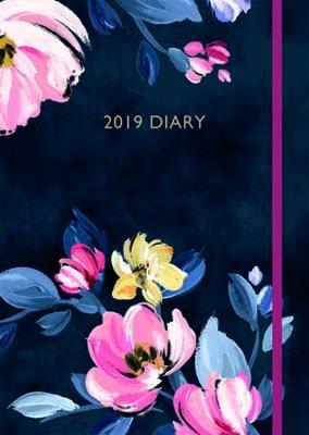 Cath Kidston Paintbox Flowers  Desk Diary 2019