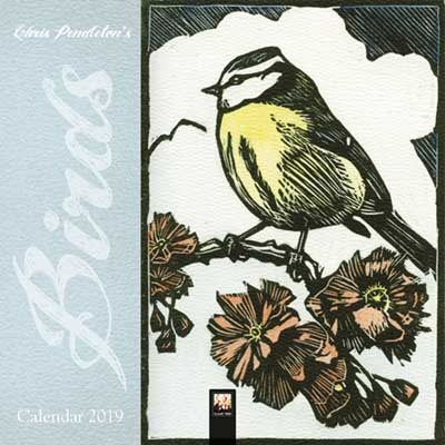 Chris Pendleton Birds Linocut mini wall calendar 2019 (Art Calendar)
