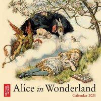 British Library - Alice in Wonderland Mini Wall calendar 2021 (Art Calendar)