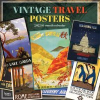 2022 Vintage Travel Posters Wall Calendar