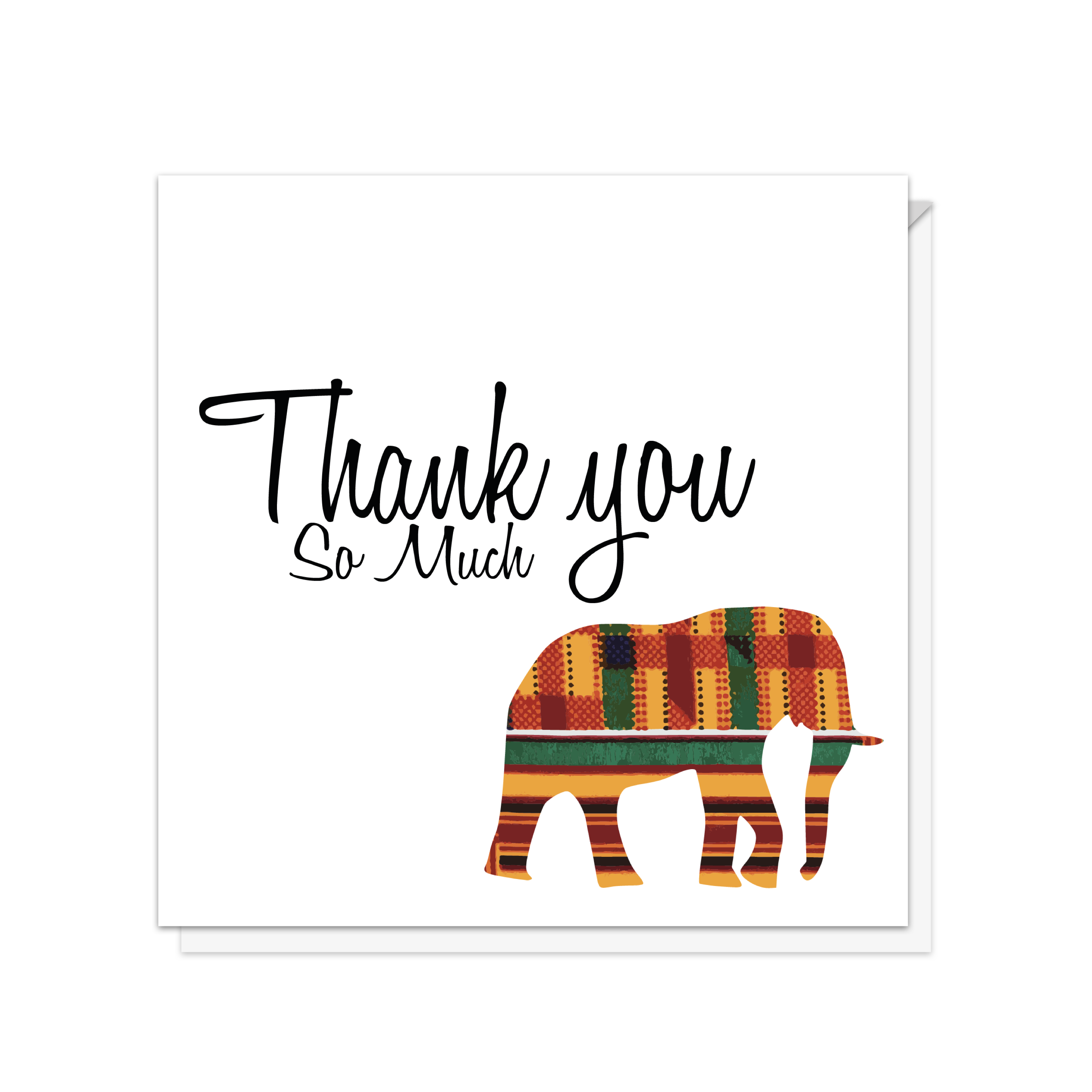 elephant thank you so much card  waterstones