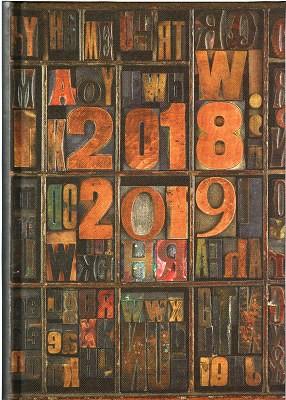 Waterstones Signature Book Blocks Desk Diary 2018-2019 (Diary)