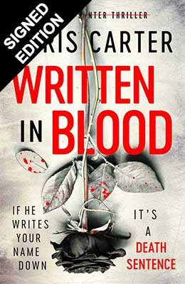 Written in Blood: Signed Edition with Sprayed Edges (Hardback)