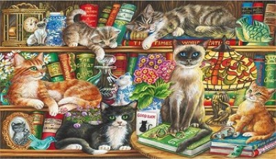 Puss in Books Jigsaw Puzzle