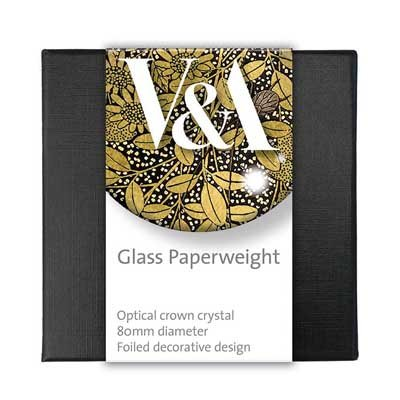 V&A The Writing Box glass paperweight