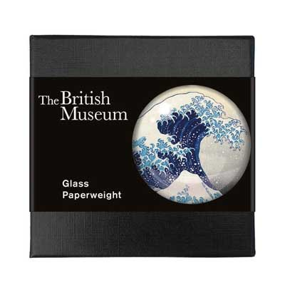 Hokusai's The Great Wave glass paperweight
