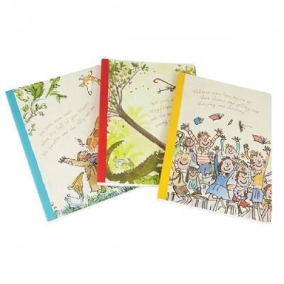 Roald Dahl Three Delumptious Exercise Books