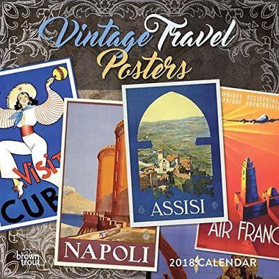 Vintage Travel Posters 2018 Wall Calendar (Calendar)