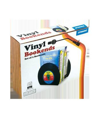Retro Vinyl Bookends