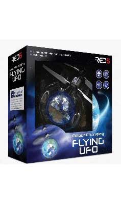 Remote controlled colour changing UFO flyer