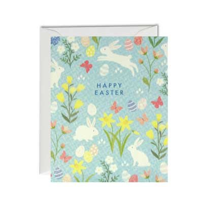 Easter Bunny Pattern Pack of 5 Cards