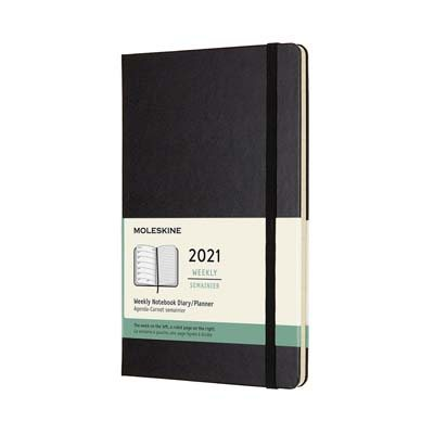 Black Large Weekly Hard Diary 2021: Moleskine (Diary)