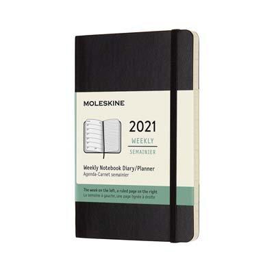 Black Pocket Weekly Soft Diary 2021: Moleskine (Diary)