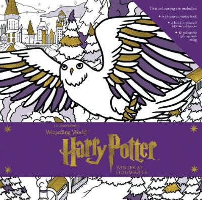 Harry Potter: Winter at Hogwarts: A Magical Colouring Set - J.K. Rowling's Wizarding World (Hardback)