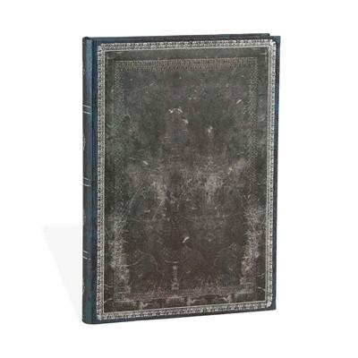 Midnight Steel Midi Lined Notebook (Hardback)