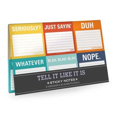 Knock Knock Tell It Like It Is Sticky Note Packet (Stickers)