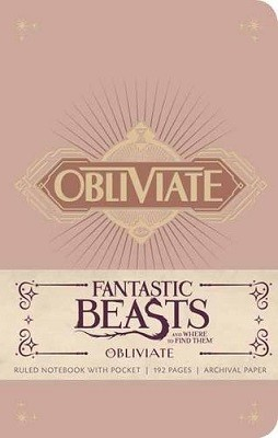 Fantastic Beasts and Where to Find Them: Obliviate Hardcover Ruled Notebook (Hardback)