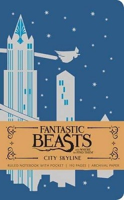 Fantastic Beasts and Where to Find Them: City Skyline Hardcover Ruled Notebook (Hardback)