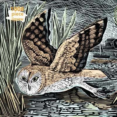 Angela Harding Marsh Owl Jigsaw Puzzle 1000pc: 1000 piece jigsaw - 1000-piece jigsaws
