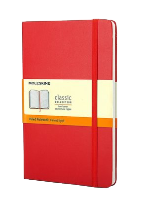 Moleskine Large Ruled Notebook Red - Moleskine Classic