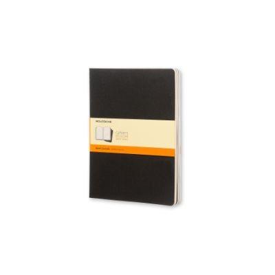 Moleskine Ruled Cahier Xl - Black Cover (3 Set) - Moleskine Cahier