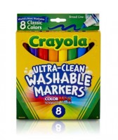 8 Ultra Washable Markers