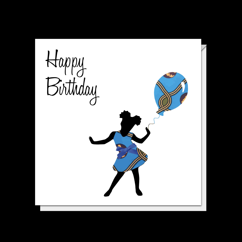 Amayah Girl & Balloon Card