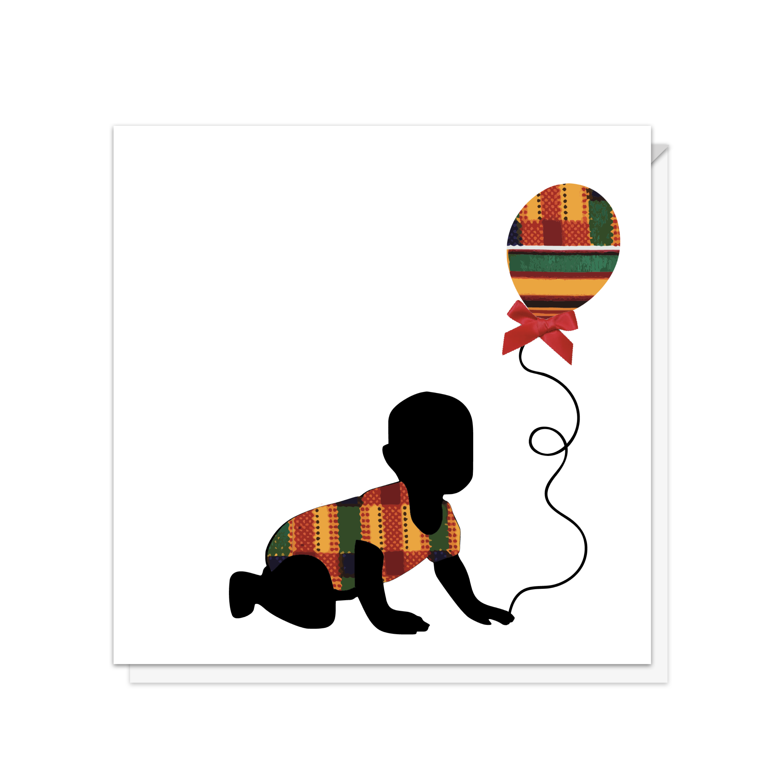 Lil' Man Baby & Balloon Card