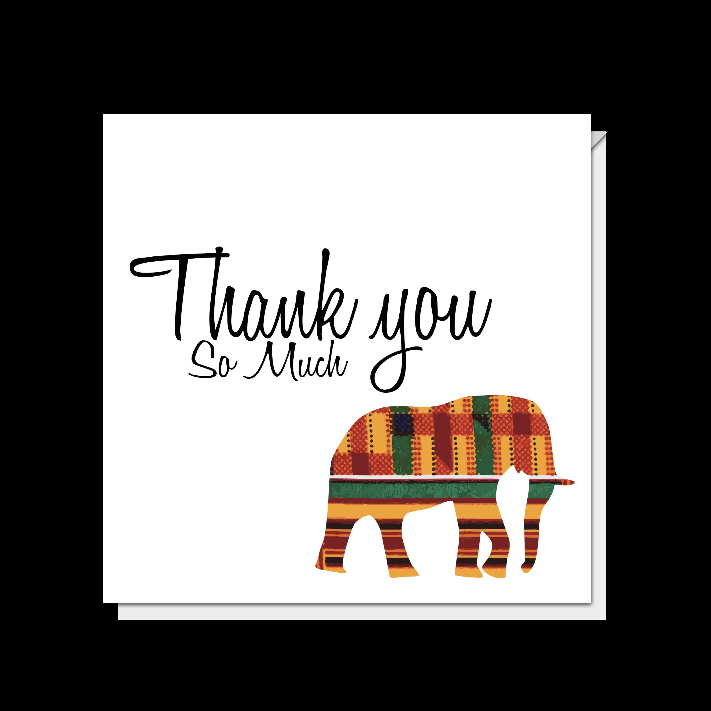 Elephant Thank You So Much Card