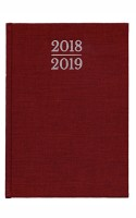 Waterstones Signature Red Diary Pocket 2018-2019