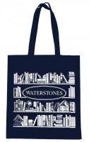 Waterstones Dark Blue Book Bag