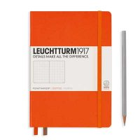 Orange Medium Dotted Notebook
