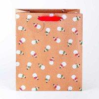 Snowmen Kraft Medium Gift Bag