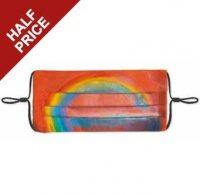 Rainbow painting reusable face mask