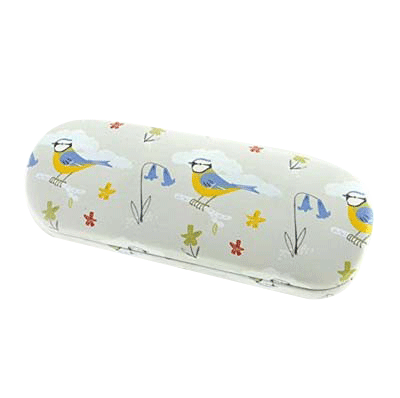 Blue Tits Glasses Case