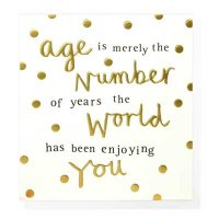 Age Is Merely The Number