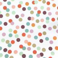 Cream Multi Spot 3m Roll Wrap