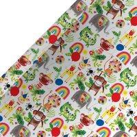 Jungle Animals 2m Roll Wrap