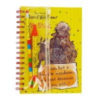 David Walliams A5 Notebook And Writing Set