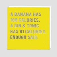 Gin And Tonic Over Bananas